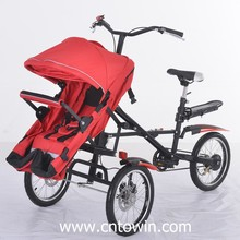 High-carbon steel mother baby stroller bike foldable tricycle