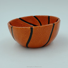 China handmade wholesale disposable basketball ceramic bowls