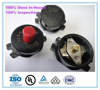 High Quality Auto Reset Manual Rest Dual Voltage Bimetal Thermal Protector Motor Protector
