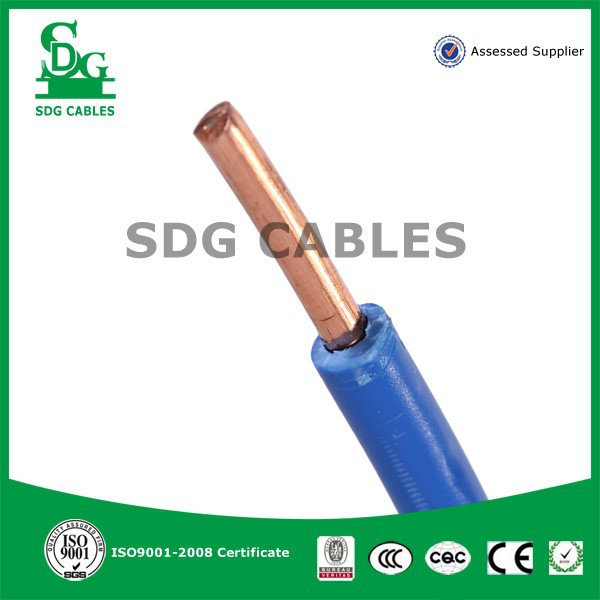 450/750V PVC insulated thin electrical wire with Single core