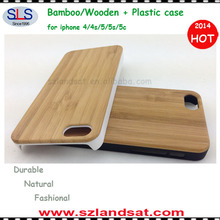 Factory Direct Sales hot sale wood backing cover with plastic for iphone 5c/5s/5 IPC339C