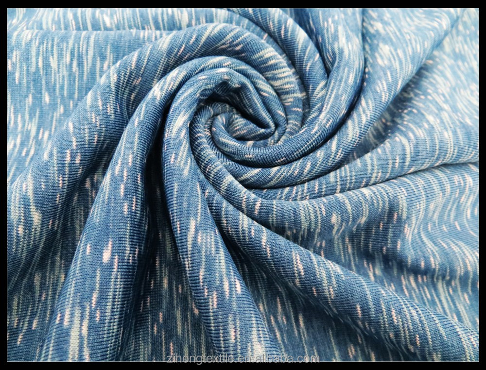 Heather Knitting Fabric/Poly spandex circular fabric/space dyed fabric