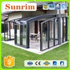 Aluminum Frame Veranda Polycarbonate Retractable Sunroom