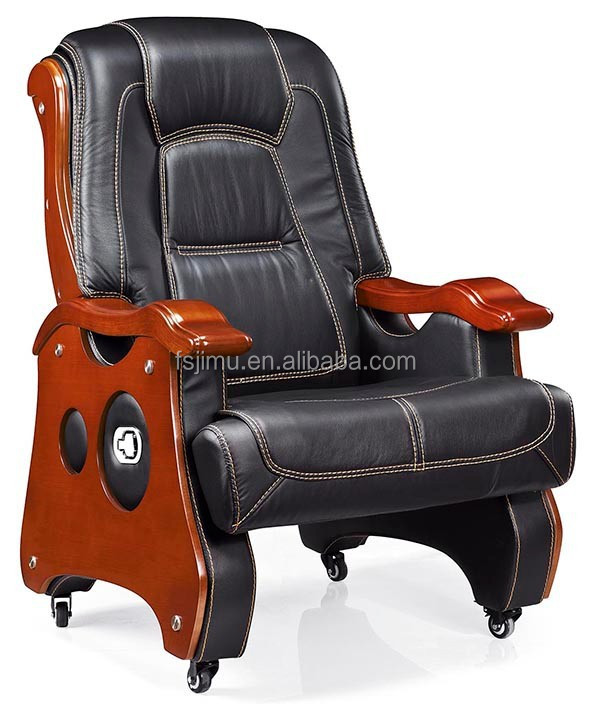 luxury executive wooden chair/VIP room leather hotel office chair