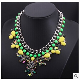 C63768A european style fashion colorful necklace for women