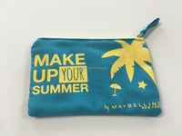 HOT !!! Natural feel allover printing canvas pouch cosmetic bag