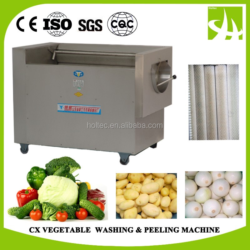 CX150 Vegetable & fruits washing and peeling machine for processing 650kg/hour