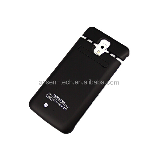 online shop China CE FCC ROHS external portable power battery case smartphone with flip cover for samsung galaxy note3