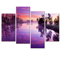 Custom Stretched Canvas Charming Sky Photo Canvas Prints Beautiful Nature Scenery Picture Canvas Printing Artwork 4 Panels