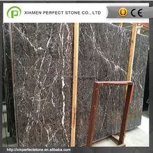 Hang grey marble with white vain floor polishing slab with direct sell
