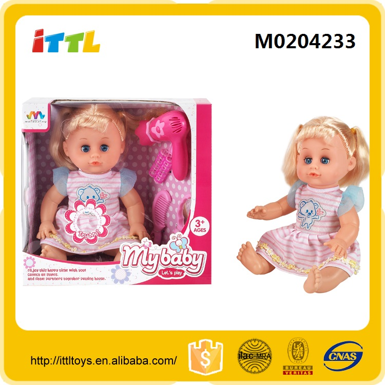 16 inch girl doll toy with 12 sounds IC big eye baby dolls