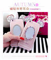 3D Cute Cartoon Bling Diamond Rhinestone Mickey Minnie Ears Phone Case Clear Mirror Cover for iPhone 5 5s SE 6 6s Plus 7 7 Plus