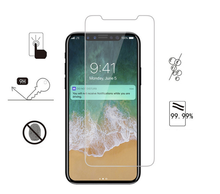 Hot Selling 9H Clear Tempered Glass Screen Protector For iPhone XS ,For iPhone XS Tempered Glass,Tempered Screen Protector