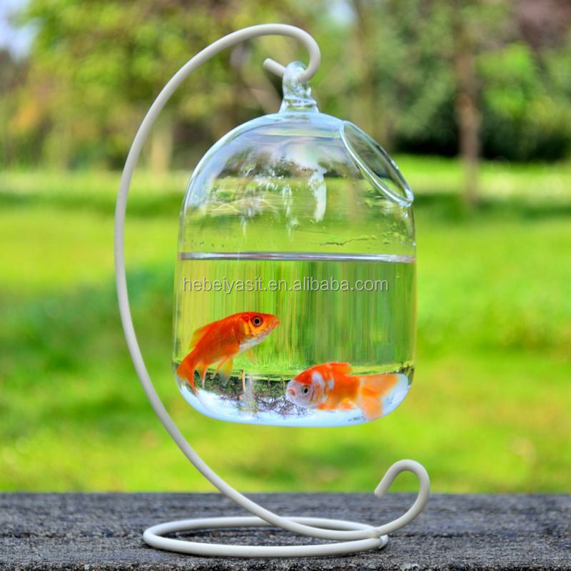 mini lead-free high clear hanging glass aquarium tank fish for sale