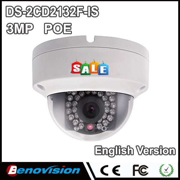 Network IP Cameras POE DS-2CD2132F-IS 3 Megapixel IP Kamera