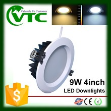 LED celling down light recessed cob smd 9w 120mm cut out downlight CE RoHS