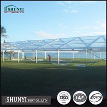 Tempered Glass Party Tent Clear Sidewall Marquee Wedding Tent, Big Transparent Event Tent