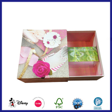 Lovely packaging paper 4C printed kids shoes box design