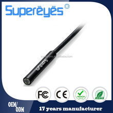 Supereyes N015 2M 6.5FT waterproof 7mm 100X flexible usb digital snake tube endoscope borescope inspection camera with LED