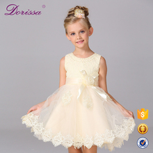 ruffle lace dress girl polks dots dress latest casual dress design kids birthday party supplies china