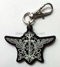 Acrylic key charm with screen print