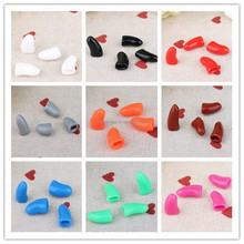 2017 Pet Grooming Antiscratch Soft Silicon Dog Nail Caps for 20pcs on bag