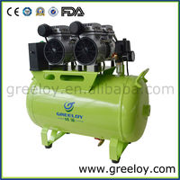 Customerized Shanghai Greeloy Italy Power Motors Electric Oil Free Silent Dental Air Compressors Without Tank