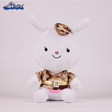 Easter's gifts custom popular plush bunny rabbit animal doll wearing uniform