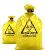28Gallon 1.3mil thickness,50PCS A Case, Yellow Clinical Waste Bags for Medical Industrial Waste Use