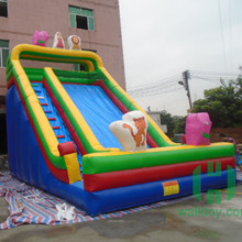 Funny halloween inflatable slide,inflatable fire truck slide,inflatable snow slide