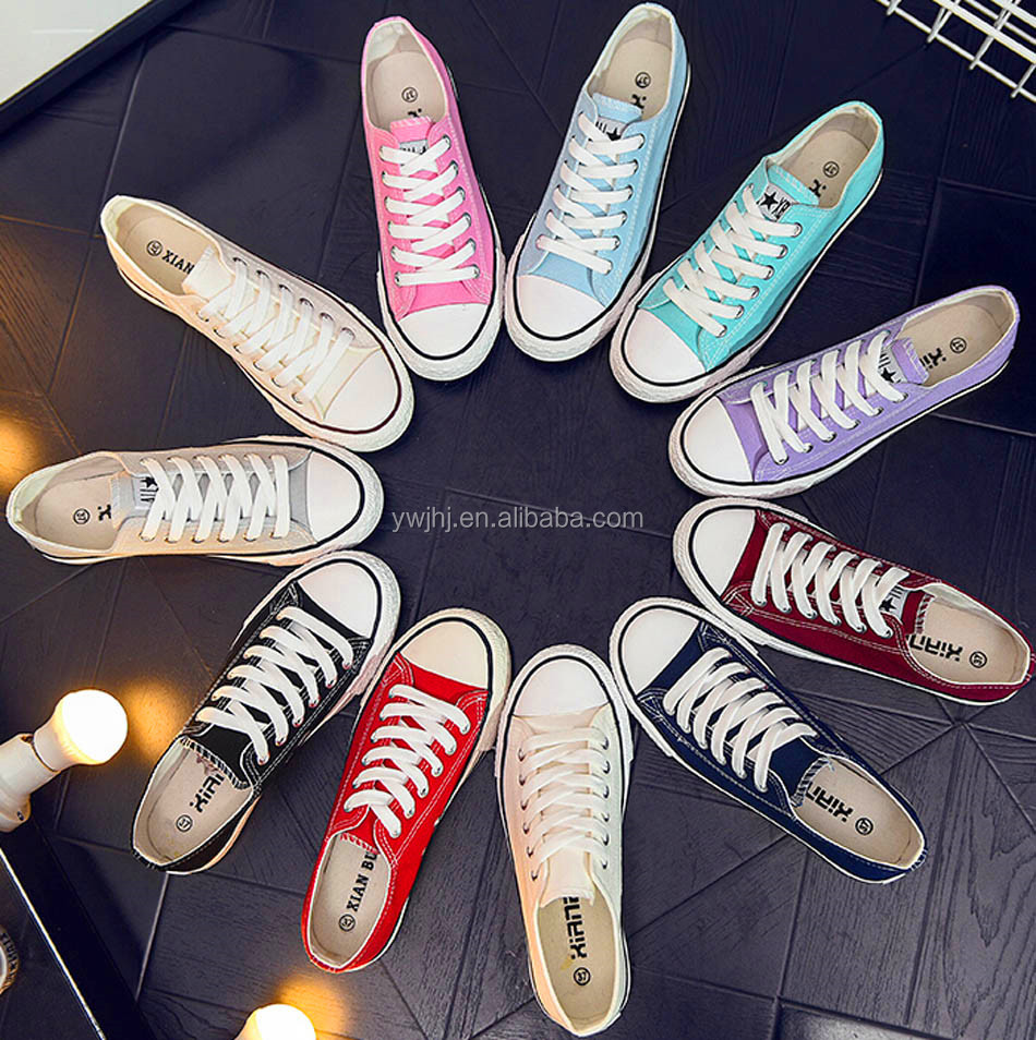 2016 Cheap Price Colourful Unisex Brand Name Canvas Fabri shoes Wenzhou Produce