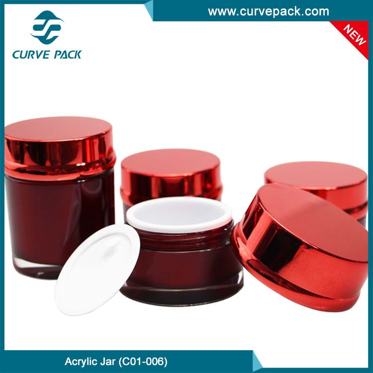 10 Years China Factory supply Cosmetic Jar, Acrylic Cosmetic Jar