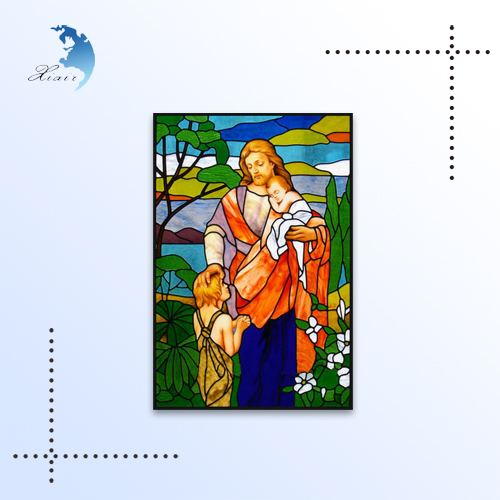 Customized vitray stained glass church wall windows panel decorative
