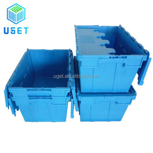 Multiple Sized Custom Color Warehouse Storage Container Plastic Delivery Logistic Moving Box