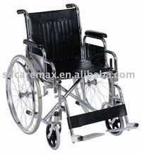 Caremax | Detachable footrest and armrest wheelchair | Steel wheelchair / wheelchair