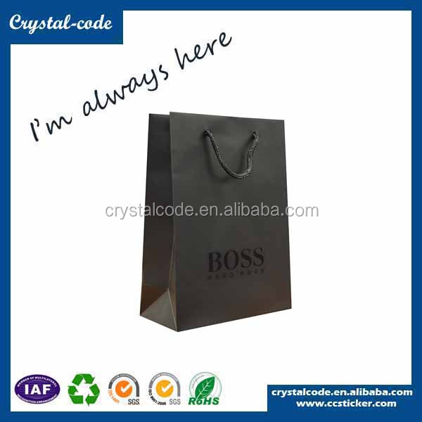 Super quality small black personalized musical paper gift bags