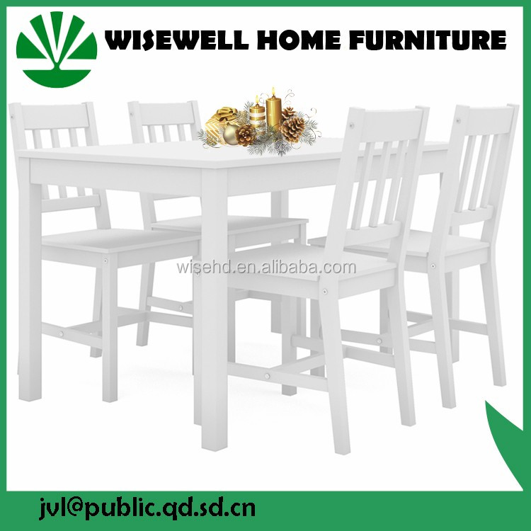 (W-5S-94 WT) dining room wooden table and chairs