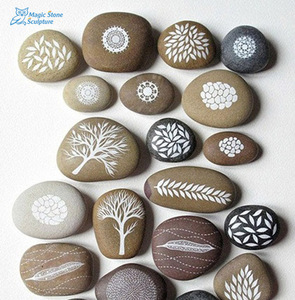 nature cobble flat stone for pebbles carving craft