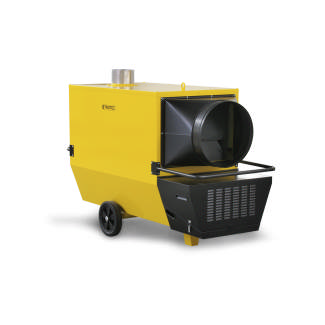 High Output Indirect Heater, 8,000 m3/h, 220 PA, 110 kW / 94,600 kcal, 10 l/h fuel consumption