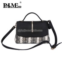Hot Selling Famous Ladies Handbag/Elegant PU Leather Bags snake fashion bags