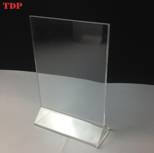 standing stand-up a5 size a4 paper sheet insert acrylic menu card holder acrylic sign holder 8.5x11