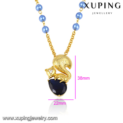 43305 xuping gold jewellery designs photos black stone pendant cute animal gold necklace