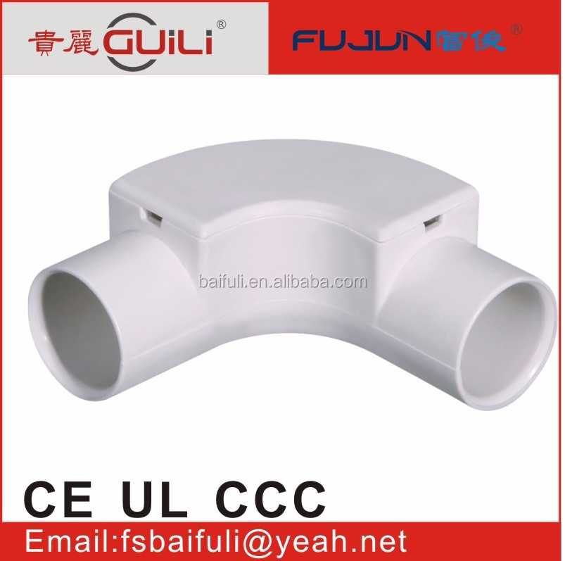 bush electrical panel accessories plastic pvc abs pp trunking pipe fitting