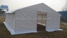 In Stock un canvas refugee camp tent for emergency