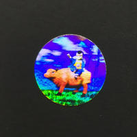 Custom printing open warranty void holographic 3d hologram sticker label anti fake transparent effect with gold silver