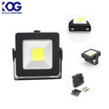 2017 Small Size Square Shape Worklight LED with Stand, 360 Rotating COB LED Magnetic Work Light