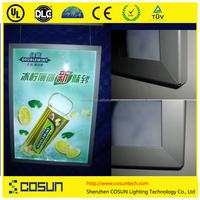Internal illuminated advertising horizontal LED light box aluminum profile sign/ led snap frame moving light sign