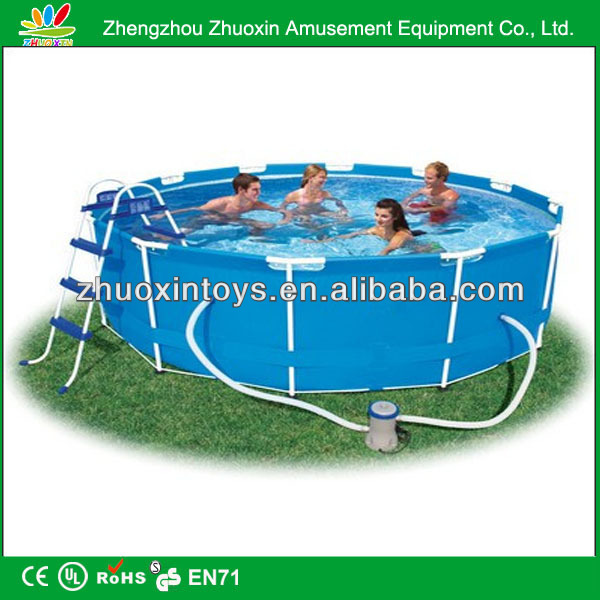 Summer vocation frame pool for sale / oval frame pool / 09mm pvc frame pool