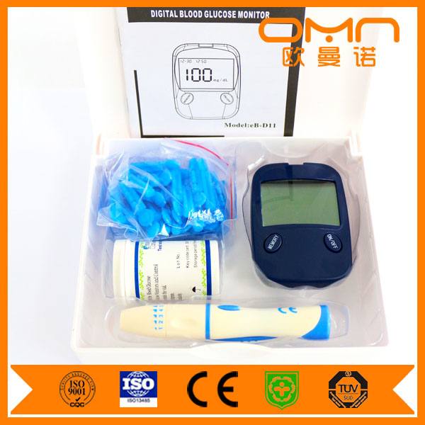 Quick Check Easy Glucometer Blood Sugar Testing Equipment Normal Range Measuring Meter for Health Care with 50 Accu Chek Strips