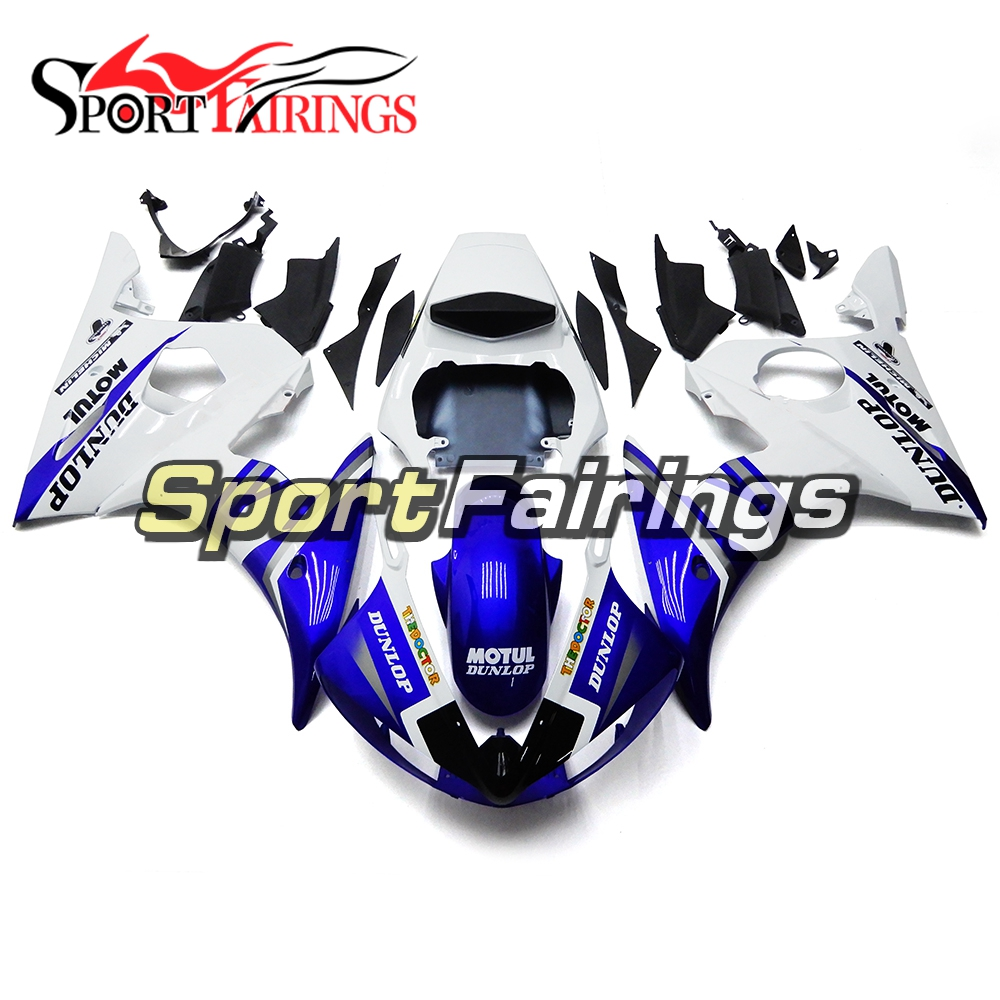 White Blue Injection Fairings For Yamaha YZF 600 R6 2003 2004 YZF-R6 03 04 Year ABS Plastic Motorcycle Fairing Kit